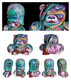 Custom Toys as Art Objects and Sculptural Pieces 07-09 by markie darkie , via Behance