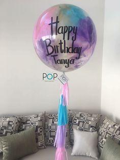 Glitter Balloons, Bubble Balloons, Giant Balloons, Happy Birthday Colleague, Glitter Highlight, Balloon Tassel, Cake Business, Glitter Background, Ideas Para Fiestas