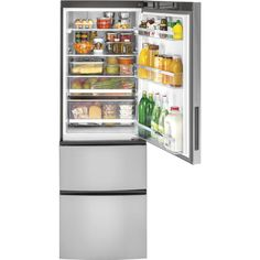 Buy the GE Stainless Steel Direct. Shop for the GE Stainless Steel 24 Inch Wide Cu. Energy Star Certified Bottom Mount Refrigerator with Temp Select Zone Crisper and save. Counter Depth Refrigerator, Stainless Steel Refrigerator, Best Appliances, Kitchen Appliances, Small Appliances, Small Laundry Closet, Laundry Room, Bottom Freezer Refrigerator, French Door Refrigerator