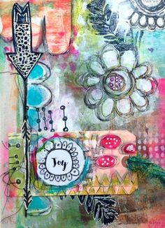 Art journal page by roben-marie smith.
