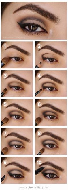 Makeup Ideas For Prom - Intense Metallic Smokey Eye Tutorial - These Are The Bes. Makeup Ideas For Prom - Intense Metallic Smokey Eye Tutorial - These Are The Best Makeup Ideas For Prom and Ho Eyeshadow Tutorial For Beginners, Smokey Eye Makeup Tutorial, Eye Tutorial, Eyeshadow Tutorials, Cut Crease Tutorial, Gothic Makeup Tutorial, Makeup Guide, Eye Makeup Tips, Beauty Makeup