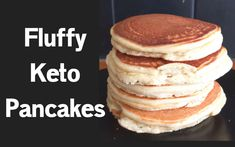 Whip up some thick, fluffy and low carb keto pancakes in under 10 minutes. Get ready for a super-easy low carb keto-friendly pancake recipe that your entire family will love. Low Carb Keto, Low Carb Recipes, Diet Recipes, Cooking Recipes, Quick Recipes, Recipies, Keto Diet Side Effects, Comida Keto, Keto Pancakes