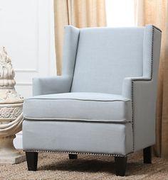Lorena Light Blue Fabric Armchair  http://on.fb.me/1noyG6o