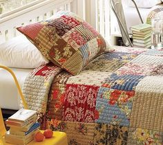 I love quilt bedspreads. So cozy.