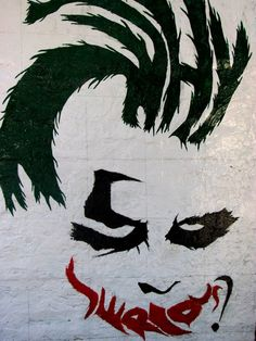 The Dark Knight - ''Why So Serious'' - Art By Architecture students at CETP Univeristy in India