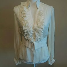 Brand new alvin valley blouse Beautiful blouse 100% silk whith tags, size 38 Alvin valley  Tops Blouses