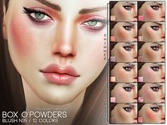 The Sims Resource: Box O'Powder Blush Set N35 by Pralinesims • Sims 4 Downloads