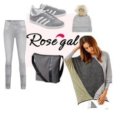 """""""Gray All Day"""" by rosiecathedral ❤ liked on Polyvore featuring True Religion, Tommy Hilfiger, adidas Originals and SOREL"""