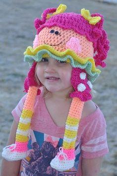 Free Lalaloopsy Crochet Hat Pattern | shop.snappy-tots....