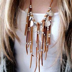 Boho Leather Necklace