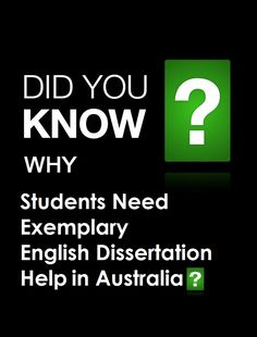 Why Students Need Exemplary #EnglishDissertationHelp in Australia - https://myassignmenthelp.com/dissertation/english-dissertation-help.html