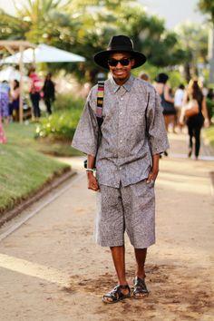 Mens fashion - matching shorts and shirt