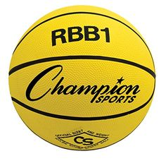 Champion Sports Rbb1 Official Rubber Outdoor Basketball (29.5/ Yellow) -- You can get additional details at the image link.