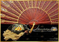 Hand Fan, Home Appliances, Hand Fans, Wood, Flowers, Spain, House Appliances, Appliances, Fan