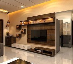 TV Stand Unit Cabinet Ideas Latest 2020 - House Designs Tv Cabinet Design, Living Room Tv, Home Room Design, Living Room Design Modern, Lcd Panel Design, Wall Unit Designs, Tv Unit Interior Design, Modern Tv Unit Designs, Tv Room Design