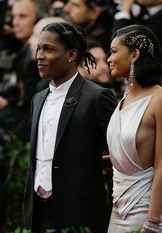 A$AP Rocky & Chanel Iman.