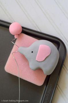 i heart baking!: elephant baby shower cake