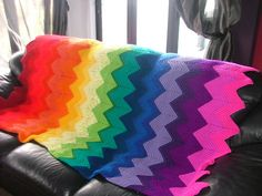 Ravelry: Zig Zag Blanket pattern by Krafty Kiwi