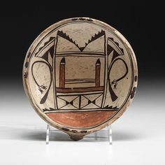 Nampeyo of Hano (Hopi, 1860-1942) Attributed Polychrome Polacca Pottery Bowl - Price Estimate: $4000 - $5000
