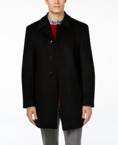 Lauren Ralph Lauren Jake Solid Wool-Blend Overcoat - Black 42R