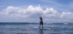 Stand up paddling in Bali