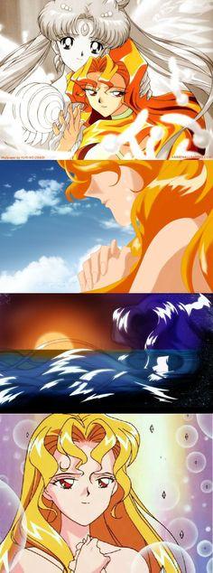 Usagi and galaxia,sailor moon