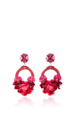 These eye-catching **Ranjana Khan** statement earrings stun with vibrant hues and intricate embellishments.