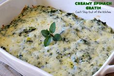 Creamy Spinach Gratin – Can't Stay Out of the Kitchen Spinach Gratin, Spinach Casserole, Vegetable Casserole, Spinach Recipes, Keto Recipes, Spinach Rolls, Cooking With Olive Oil, Creamy Spinach