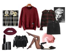 """""""Burgundy and Mini, Check!"""" by a-anja ❤ liked on Polyvore featuring NARS Cosmetics, Topshop, Wolford, Michael Kors, Illamasqua, MINISKIRT, sweaterweather, polyvoreeditorial and polyvorecontest"""