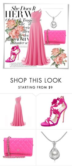 """Pink color !!!"" by hazreta-jahic ❤ liked on Polyvore featuring Oscar de la Renta"