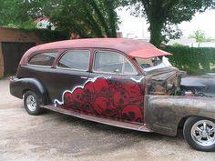 1948 Cadillac Hearse. Dallas.