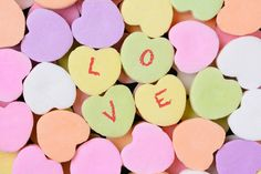 Check out Candy Hearts Macro With LOVE Spelled by Steve Cukrov Photography on Creative Market