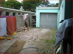 Outside area with garage