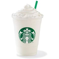 Vanilla Frappuccino ❤ liked on Polyvore featuring food, drinks, food and drink, starbucks and fillers
