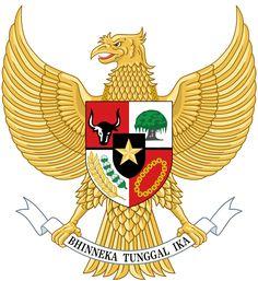 National emblem of Indonesia Garuda Pancasila.