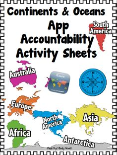iintegratetechnology Continents and Oceans Accountability Activity Sheets