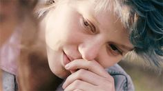 """""""Here's my number. Promise you'll call?"""" """"I swear."""" That look! Blue is the warmest color....Awesome movie! :))"""