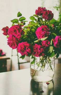 Flowers In a jar or container...