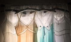 From the Gerald & Joan Blog: Pretty lacy vintage nightgowns, petticoats and slips. #vintage #pretty #romantic