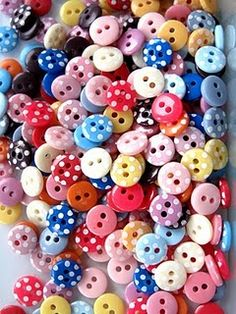tiny polka dot buttons