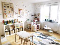 Playroom Layout, Ikea Playroom, Toddler Playroom, Playroom Storage, Kids Room Organization, Playroom Design, Little Girls Playroom, Small Playroom, Ikea Kids Room