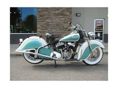 Check out this 1947 Indian Chief listing in Lowell (Charlotte), NC 28098 on Cycl. - Motorcycles For Sale - Motorrad Vintage Indian Motorcycles, Vintage Bikes, Indian Motorbike, Street Bob, Motorcycle Types, Motorcycle Bike, Motorcycle Touring, Women Motorcycle, Motorcycle Quotes