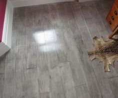 gray painted plywood floors
