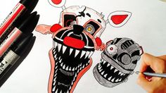 How To Draw Nightmare Chica From FNaF 4 Step By Step Drawing ...