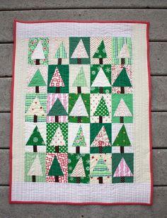 Patchwork Evergreen Quilt