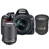 Nikon D3100 14.2 Megapixel Digital SLR Camera with 18-55mm VR Lens & 55-200mm VR Lens - Bundle - with 18-200mm...