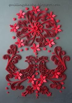 Gorgeous quilling - instructions in Russian