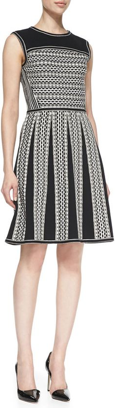 Tory Burch Monique Sleeveless Tuck-Stitch Cotton Dress