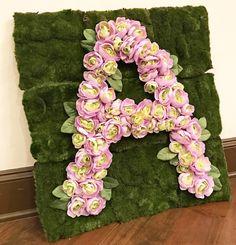 DIY Floral Letter Tu