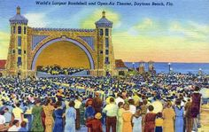 Band Shell, Daytona Beach (my birth place)..In the old days. My mom said when I was 2 & we were walking past a band here, I started dancing & drew a crowd. lol